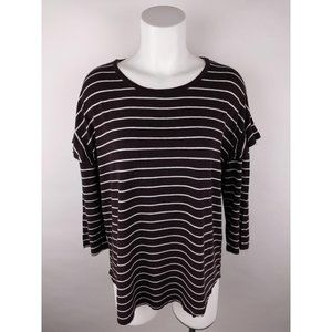Dolan Left Coast Collection Striped T-Shirt Top